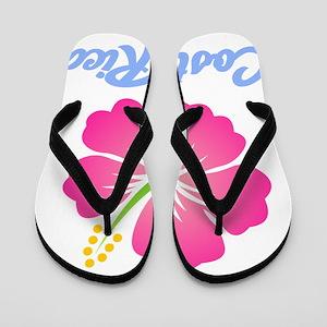 Costa Rica Flower Flip Flops