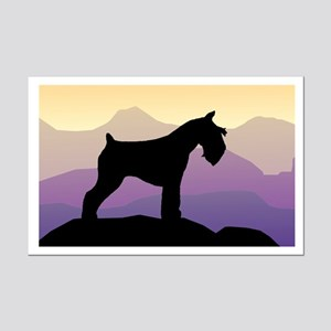 Purple Mt. Mini Schnauzer Mini Poster Print