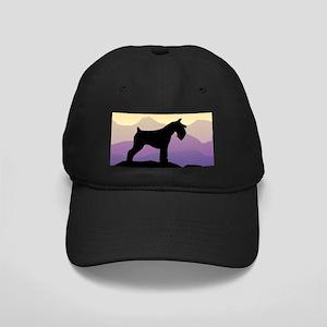 Purple Mt. Mini Schnauzer Black Cap