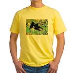 Irises / Pomeranian(bb) Yellow T-Shirt
