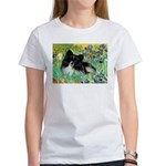 Irises / Pomeranian(bb) Women's T-Shirt
