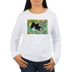 Irises / Pomeranian(bb) Women's Long Sleeve T-Shir
