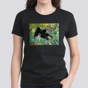 Irises / Pomeranian(bb) Women's Dark T-Shirt