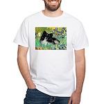 Irises / Pomeranian(bb) White T-Shirt