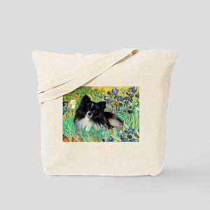 Irises / Pomeranian(bb) Tote Bag
