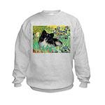 Irises / Pomeranian(bb) Kids Sweatshirt