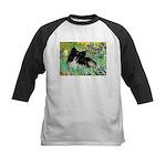 Irises / Pomeranian(bb) Kids Baseball Jersey