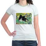 Irises / Pomeranian(bb) Jr. Ringer T-Shirt