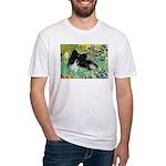 Irises / Pomeranian(bb) Fitted T-Shirt