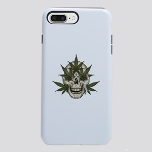 marijuana skull iPhone 8/7 Plus Tough Case