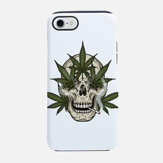 marijuana skull iPhone 8/7 Tough Case