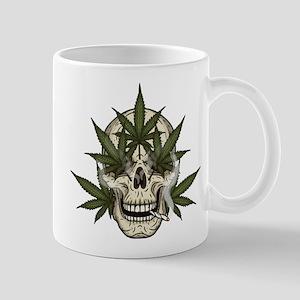 marijuana skull Mugs