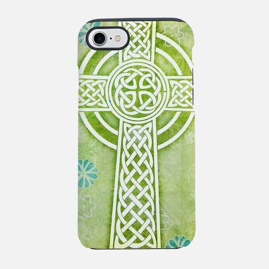 Green Celtic Cross iPhone 8/7 Tough Case