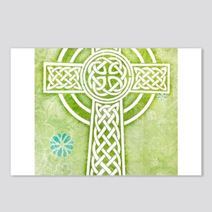 Green Celtic Cross Postcards (Package of 8)