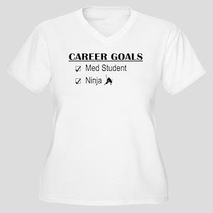 Career Goals Med Student Women's Plus Size V-Neck
