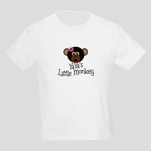 YaYa's Little Monkey GIRL Kids Light T-Shirt