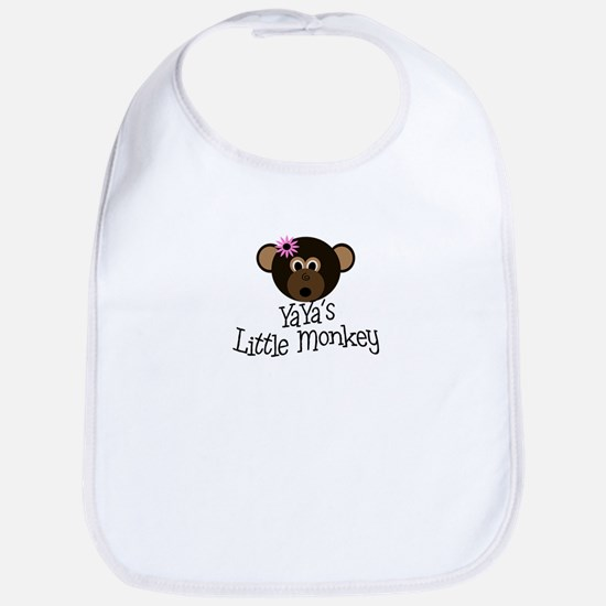 YaYa's Little Monkey GIRL Bib