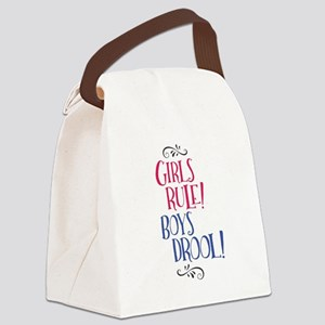 Girls Rule Boys Drool! Canvas Lunch Bag