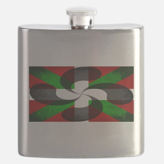 Basque Flag and Cross Flask