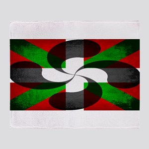 Basque Flag and Cross Throw Blanket