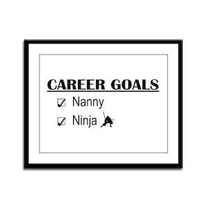 Nanny Career Goals Framed Panel Print