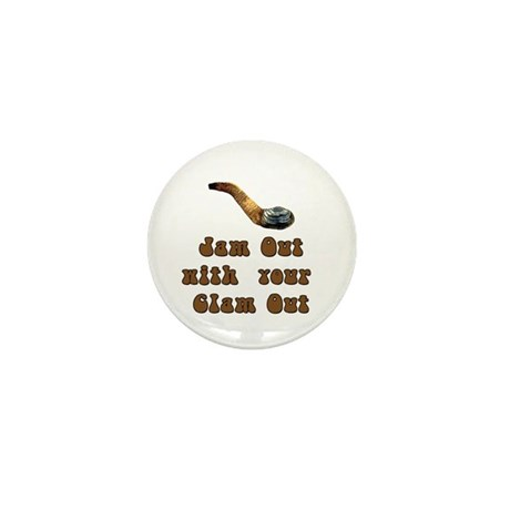 Clam Out Mini Button