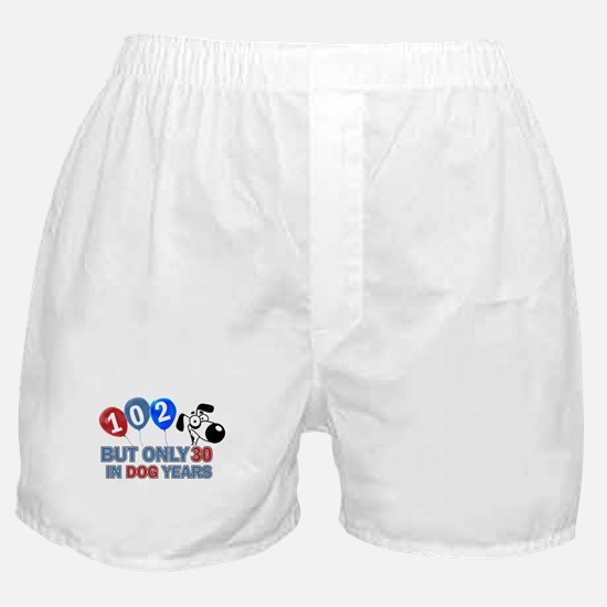 102 Birthday Design Boxer Shorts