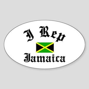 I rep Jamaica Oval Sticker