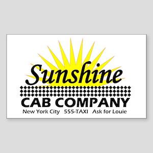 Sunshine Cab Co Rectangle Sticker