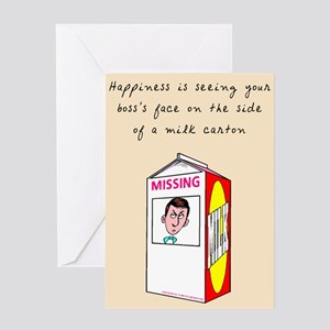 Happiness Is - Office Humor Blank Greeting Card
