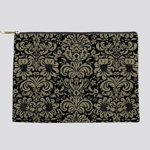 DAMASK2 BLACK MARBLE & KHAKI FABRIC (R) Makeup Bag