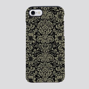 DAMASK2 BLACK MARBLE & KHAKI iPhone 8/7 Tough Case