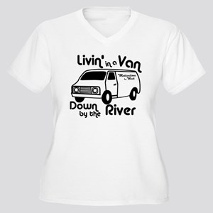 Livin in a Van Women's Plus Size V-Neck T-Shirt