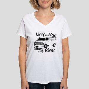 Livin in a Van Women's V-Neck T-Shirt