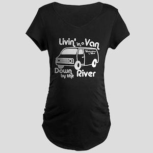 Livin in a Van Maternity Dark T-Shirt