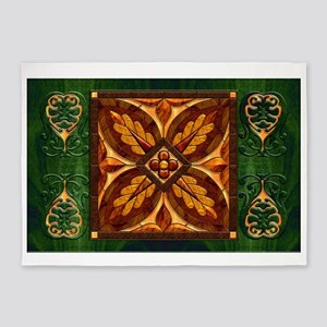 Harvest Moons Renaissance Marquetry 5'x7'Area Rug