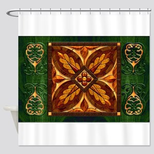 Harvest Moons Renaissance Marquetry Shower Curtain