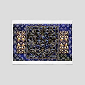 Harvest Moons Renaissance Quilt 5'x7'Area Rug