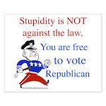 you are free 2 vote republica Small Poster