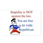 you are free 2 vote republica Postcards (Package o