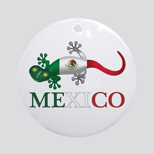Mexican Gecko Round Ornament