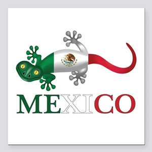 """Mexican Gecko Square Car Magnet 3"""" X 3"""""""