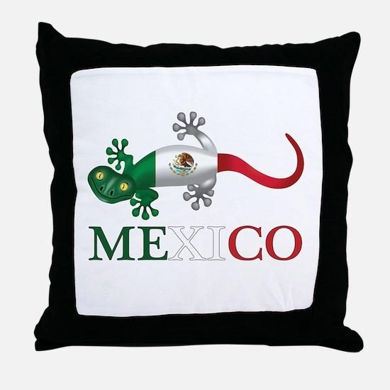 Mexican Gecko Throw Pillow