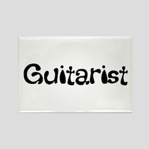 Guitarist (B/W) Rectangle Magnet