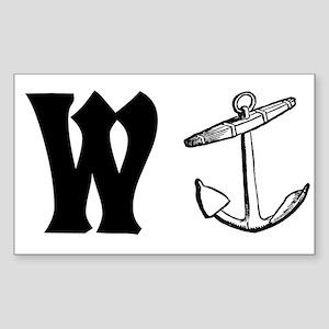 Wanker Rectangle Sticker
