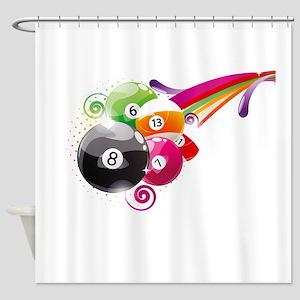 Billard Shower Curtain