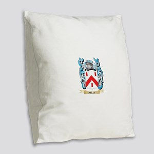 Kelly- Coat of Arms - Family C Burlap Throw Pillow