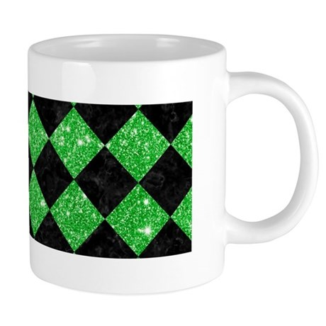 SQUARE2 BLACK MARBLE & GREE 20 oz Ceramic Mega Mug