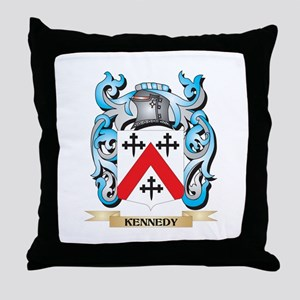 Kennedy- Coat of Arms - Family Crest Throw Pillow