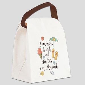 Sommer, Sand und ein Eis am Stran Canvas Lunch Bag
